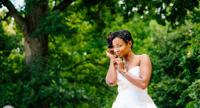 Natural Hair Bride Lovepisode III at Fletcher Park | raleigh durham chapel hill wedding photographer