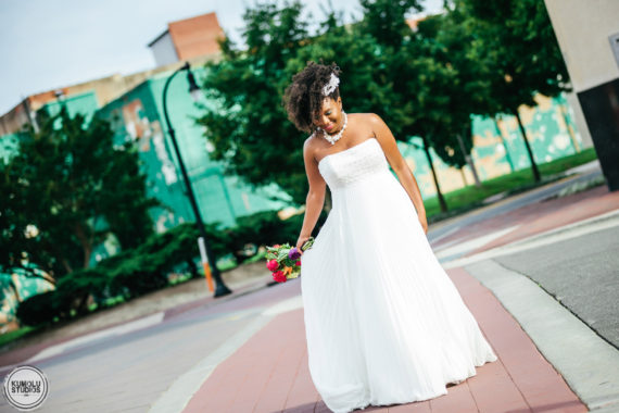 Natural Hair Bride Lovepisode IV in Downtown Durham | raleigh durham chapel hill wedding photographer