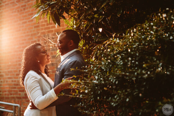 Lauren + Marcus' Casual Engagement Session at Downtown Durham | raleigh durham wedding photographer